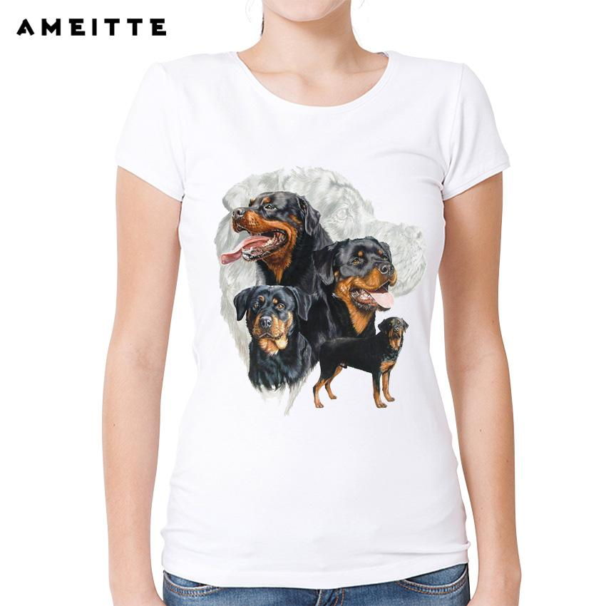 Womens Tee 2018 Ameitte Rottweiler Dog T Shirt Womens Ladies