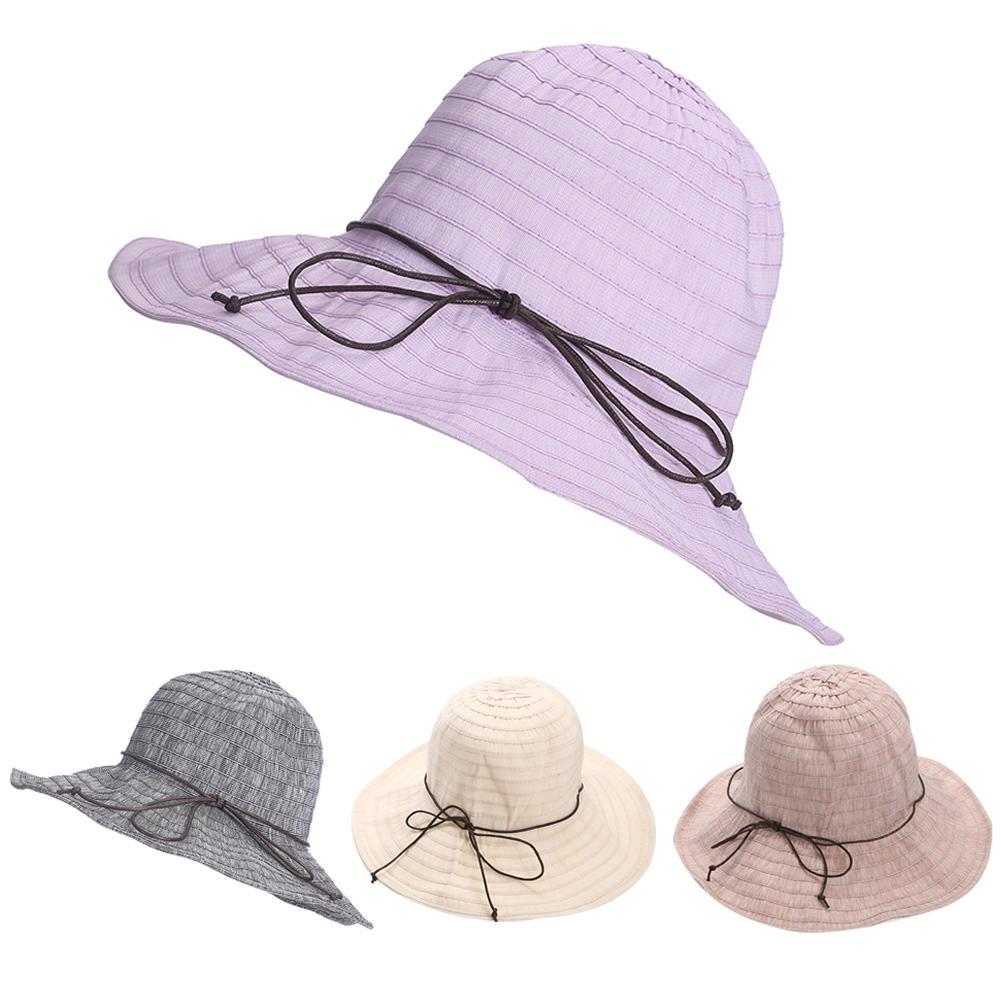 Summer Women Bowknot Sun Block Canvas Beach Hat Hats Bucket Hats From  Alley66 78c1ddaa79