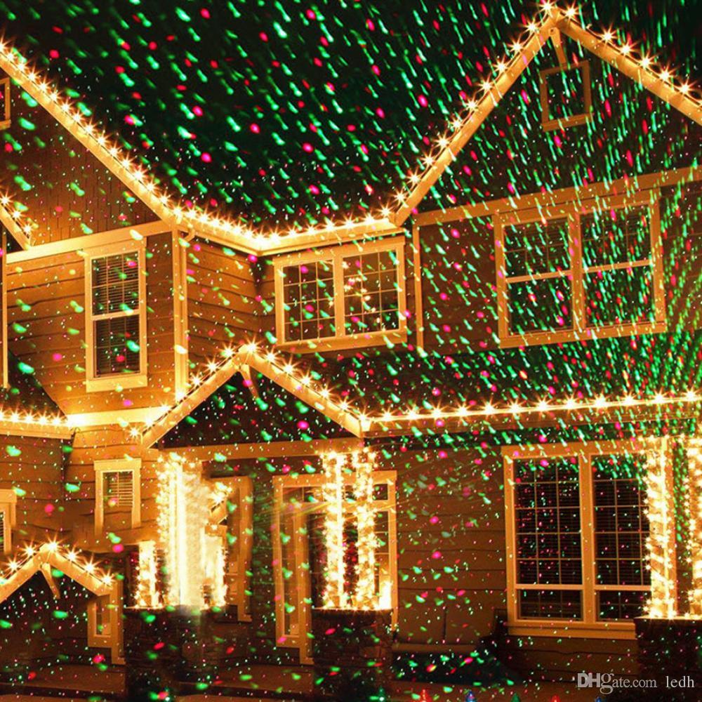 Großhandel Sterne Licht ROT GRÜN Dusche Laser LED Projektor Outdoor ...