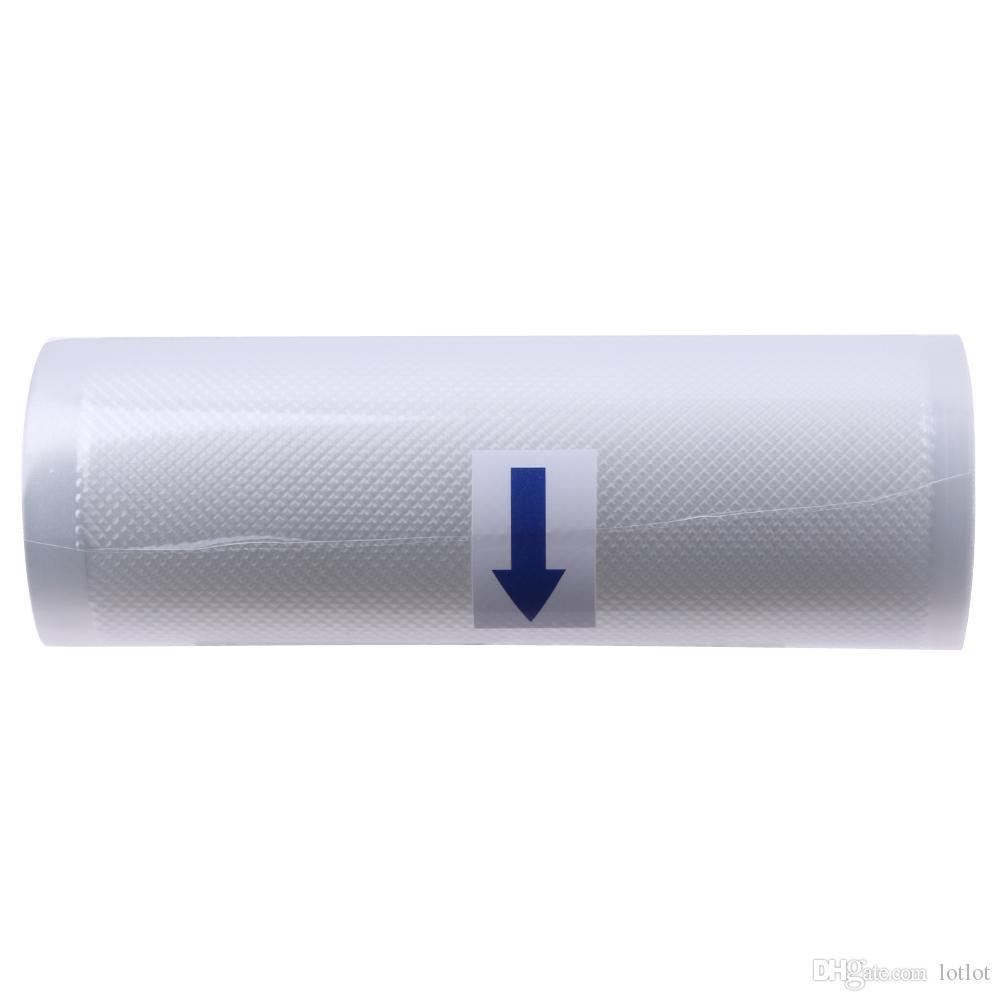 لفة الأغذية الطازجة حفظ حقيبة التخزين لفة فراغ السداده الغذاء التوقف حقيبة منظمة التخزين المطبخ أكياس بلاستيكية 15x500 سنتيمتر