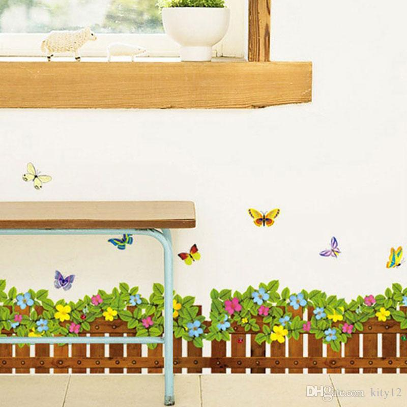 New Arrival Grass Flowers Butterfly Wall Stickers Cartoon Wall Decals For Kids  Room Home Décor Nursery Wall Decal Nursery Wall Decals From Kity12, ...