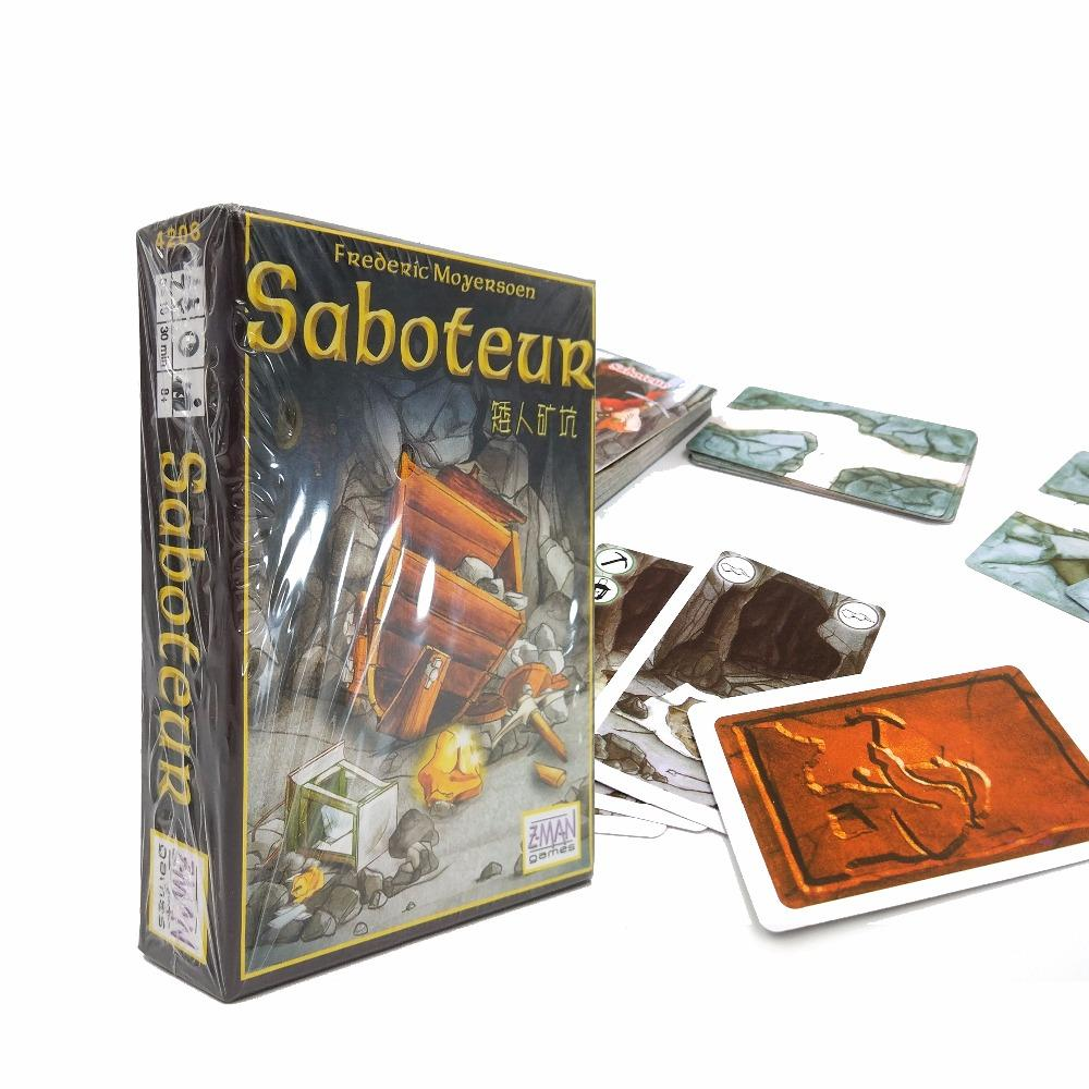 hot sale multiple language rules saboteur 1/ saboteur 2 expansion/VIP pack/simple pack, cards game table game, board game