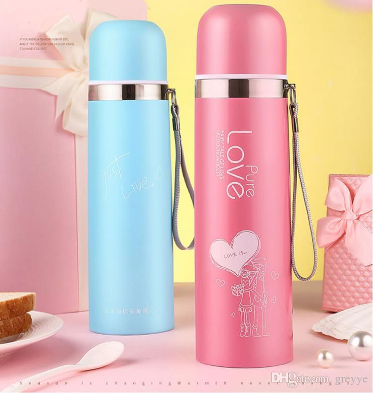 Coffee Boy Portable Bullet Thermo Mug 500ml Women Thermocup Vacuum Flask  Thermoses 304 Stainless Steel Thermos Bottle Printed Water Bottles 1 Gallon  Water ... 4e04a0b17
