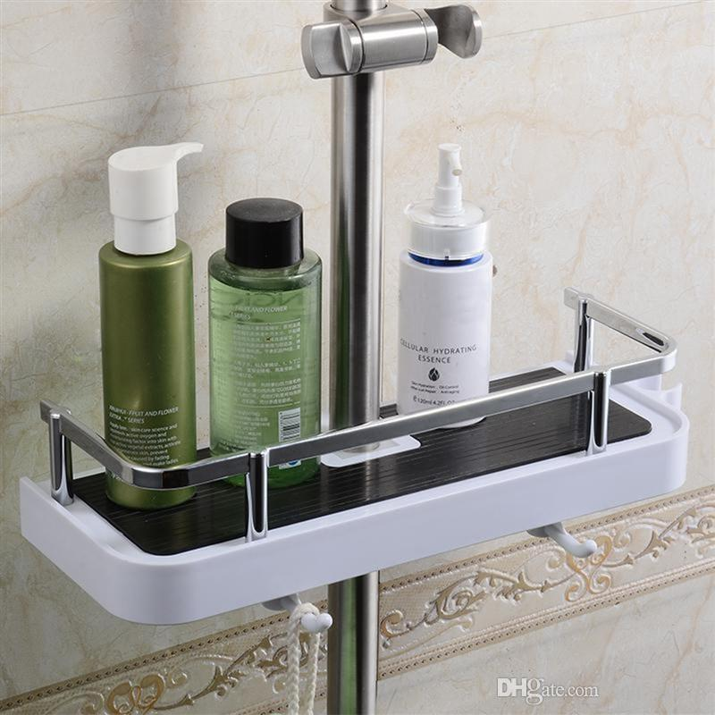2019 Rectangle Round Bathroom Shelves Shower Storage Rack Holder Shampoo Tray Bathroom Shelves Single Tier Shower Head Holder From Qqq541278 15 12