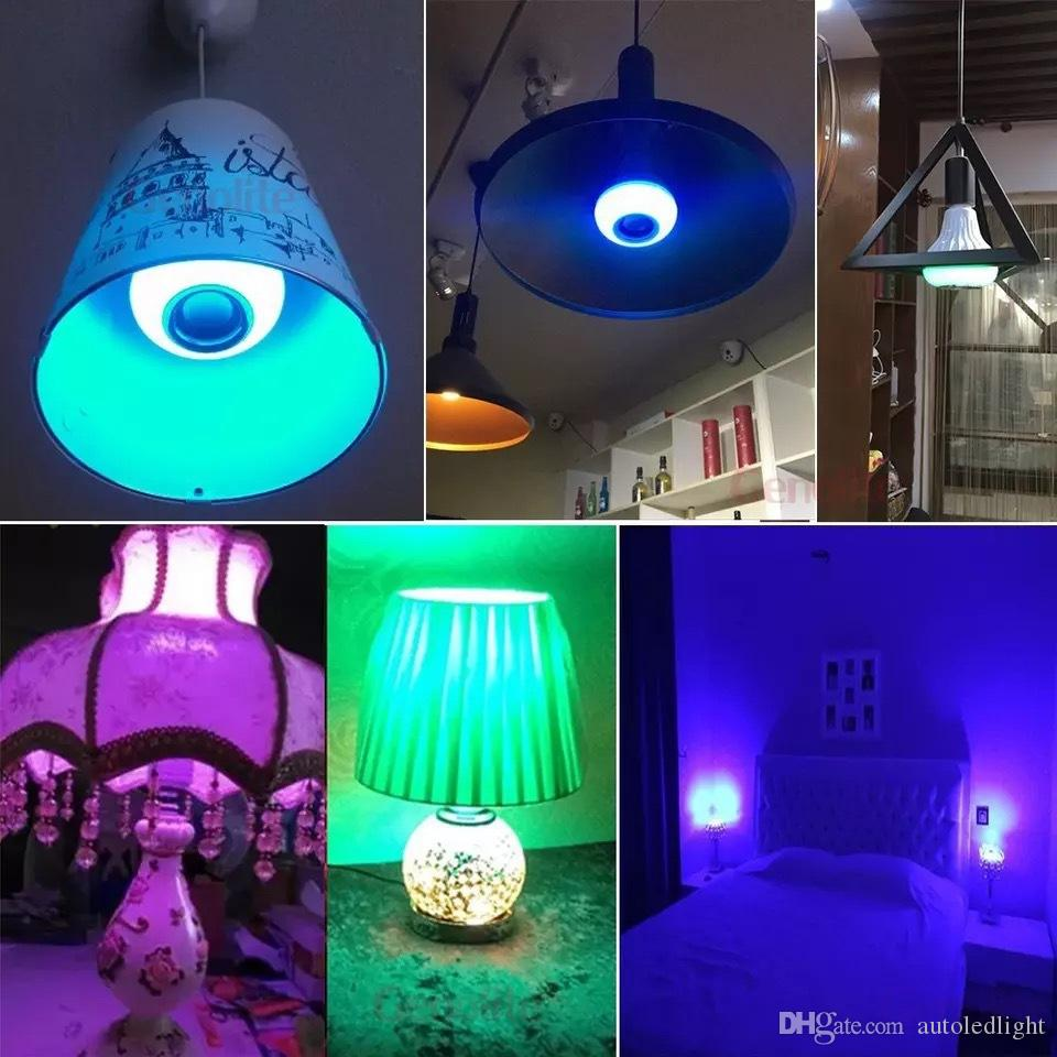 Wireless bluetooth 6W LED speaker bulb Audio Speaker Eful music playing & Lighting With 24 Keys IR remote Control
