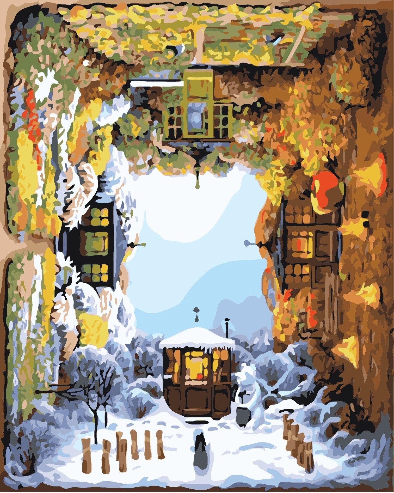 Satın Al Dört Mevsim Rotasyon 16x20 Inç Diy Boya Tuval üzerine