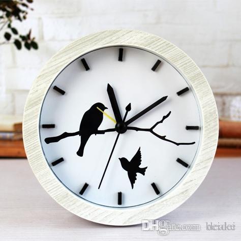 Compre Reloj De Escritorio Con Alarma De Moda Creativa Al Por Mayor ...