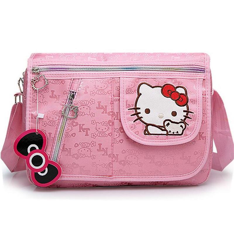 2e5102fc16cf Children Hello Kitty Handbag Bowknot Pink Cartoon Cat Baby Girl Should  Crossbody Bag Kids Child Messenger Bags Bolsa De Feminina Western Purses  Leather ...