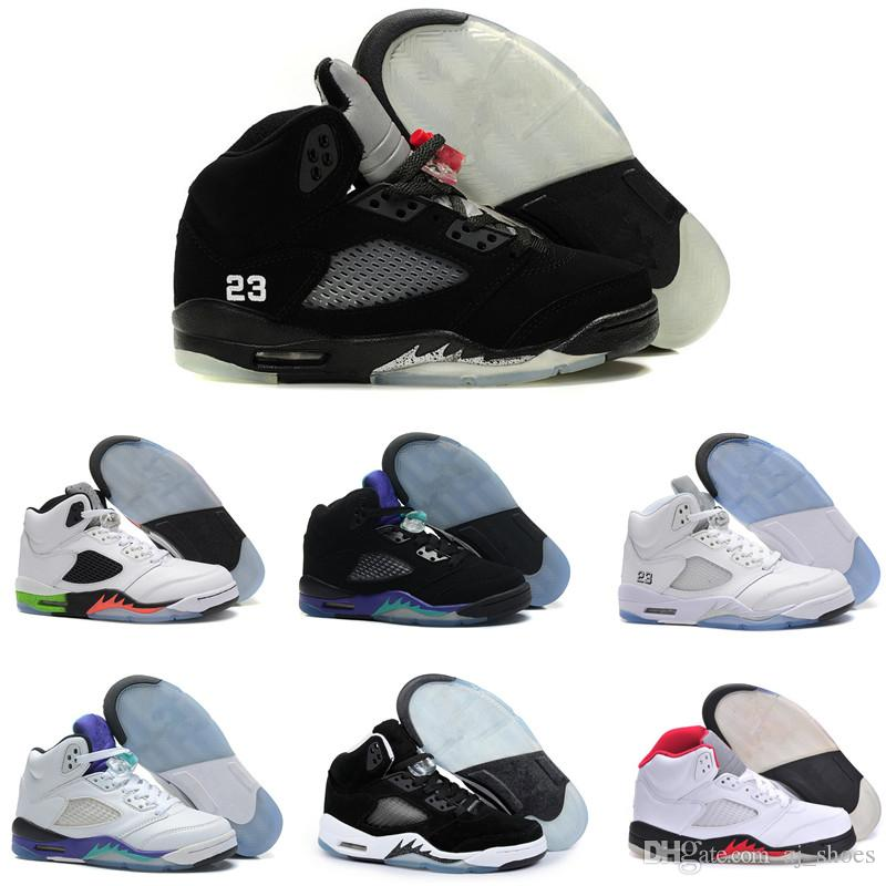 681d4fa68442 2019 High Quality 5 5s Black Metallic 3M Reflect Black Grape Oreo  Basketball Shoes Men Women Red Suede CDP White Cement Sneakers With Box  From Aj shoes