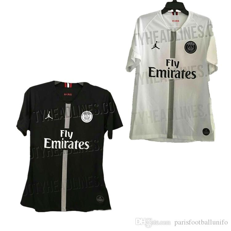 huge discount 9f94f 308c1 2018 new psg jerseys 18 2019 Paris Jordam tracksuit home black away white  soccer jersey CAVANI football shirts MBAPPE maillot de foot20