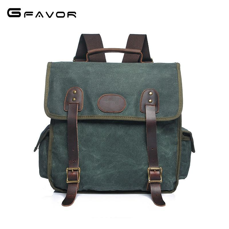2018 New Student College Backpacks Vintage Canvas Waterproof ... 06020bdcb7e51