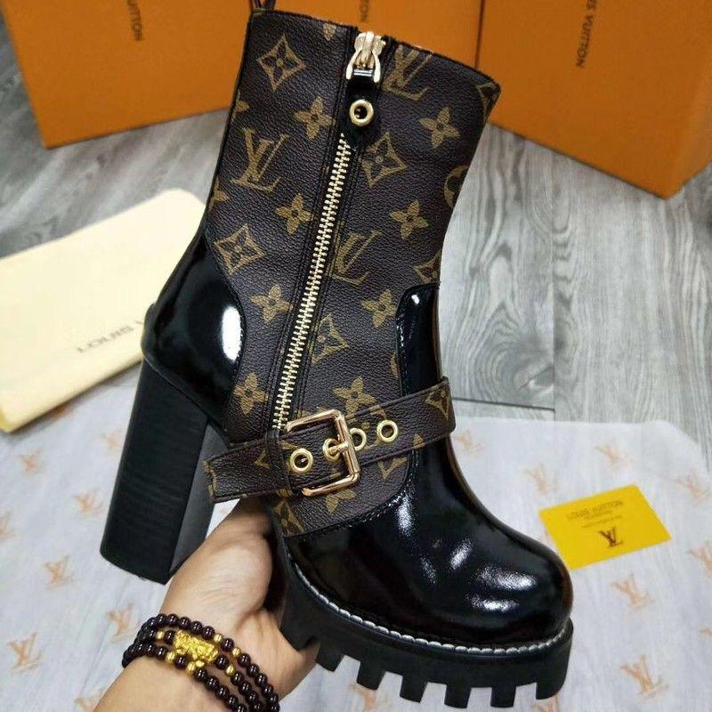 Compre Brand Boots Ladies De Zapatos Mujer Diseño Brown Luxury xwBxrI