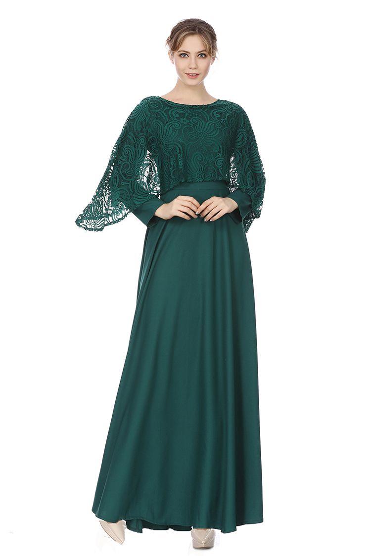 cae557a35 2018 Womens Long Sleeve Vintage Long Dress Islamic Clothing Abaya Muslim  Ethnic Dubai Lace Robes Retro Maxi Dress Muslim Ethnic Dubai Lace Dress  2018 Womens ...