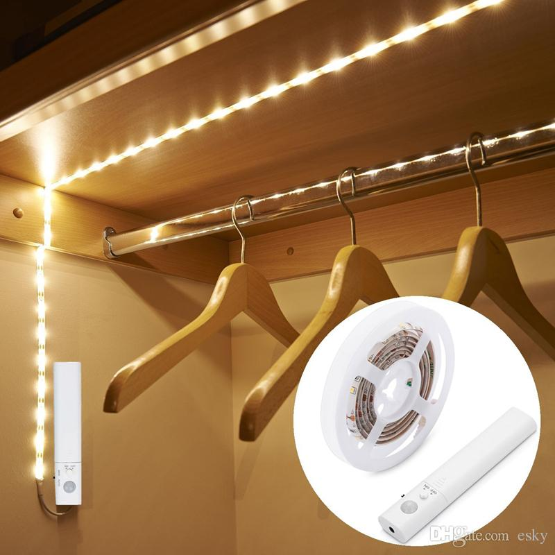 Battery Powered Led Motion Activated Night Light Flexible LED Strip Light  Motion Sensor Automatic Bed Stair Lights Motion Sensor Strip Light Online  With ...