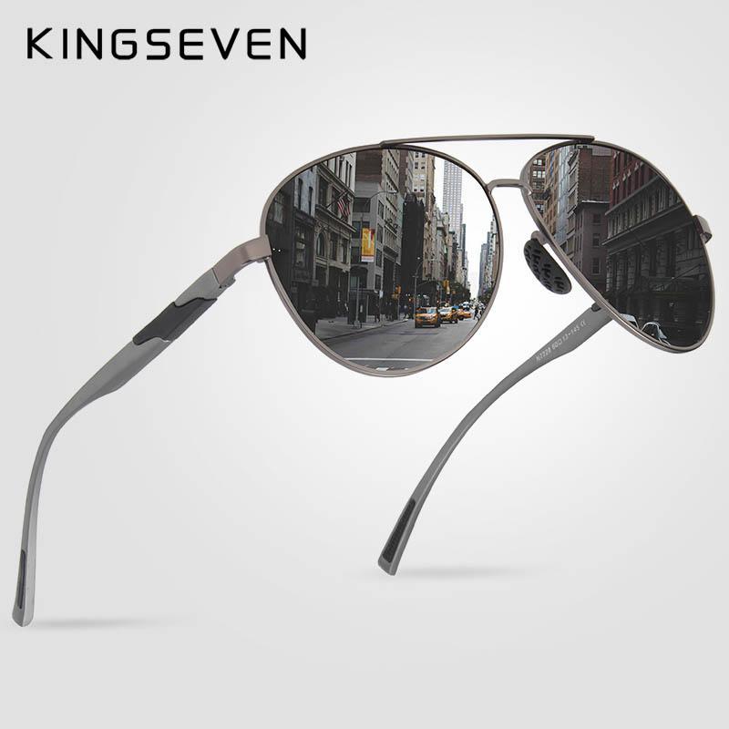 725016371fae9 Compre X Kingseven Design Homens Clássicos Óculos De Sol Polarizados  Alumínio Óculos De Sol Piloto Uv400 Proteção Nf 7228 De Ruiqi07,  20.85    Pt.Dhgate.Com