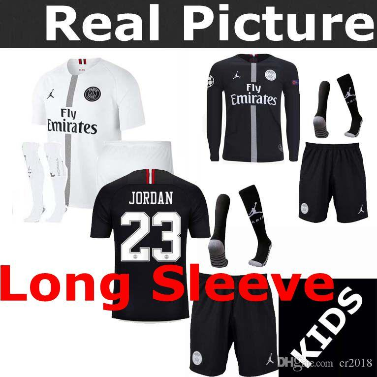 5a85cca3869 18-19 Psg Soccer Jersey Kids Youths PSG 2018 2019 Mbappé Childs Home ...