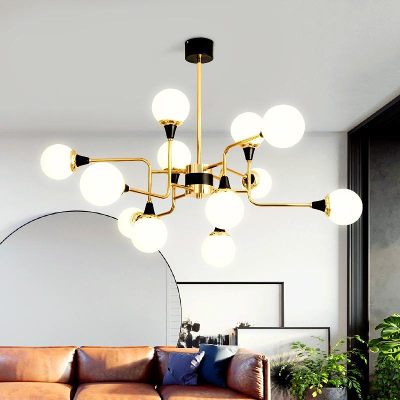 Acquista Lampadari Moderni Nordici Lampadari In Vetro Di Metallo Led