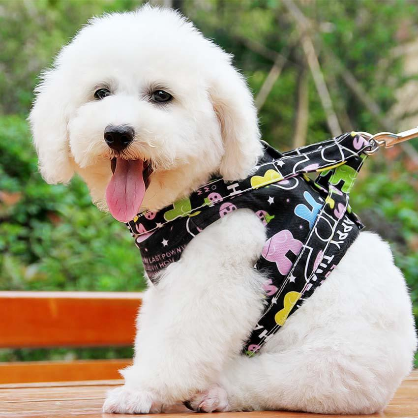Clothes harness dog adjustable pet products puppy collar dog accessories  leash for dogs breathable small vest harness S M
