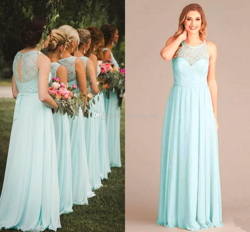 Cute Plus Size Turquoise Lace Bridesmaid Dresses