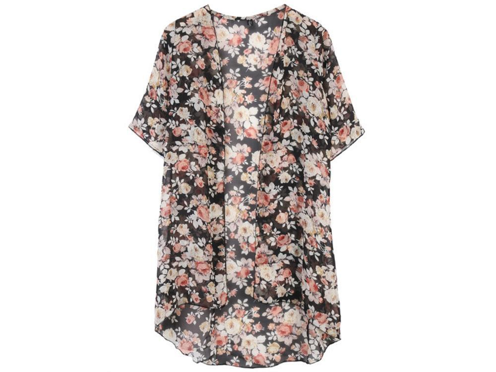 baf16fc32ea0b 2019 Batwing Sleeve Chiffon Blouse Women Casual Floral Print Loose Kimono  Shirts Big Size Beach Tunic Tops Blusas Robe From Pingpo