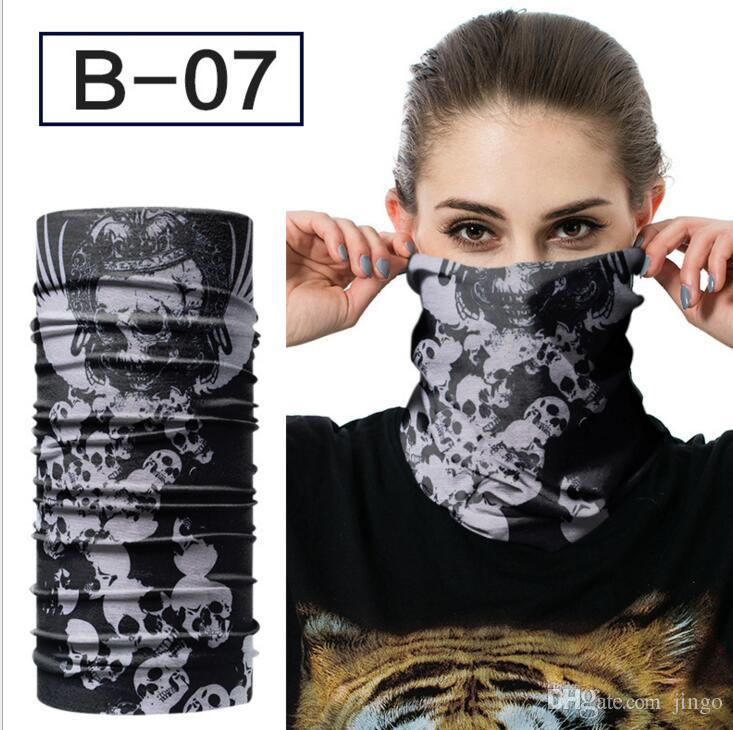 Skull Face Mask Multi Function Turban Outdoor Sports Warm Ski Caps Cycling Motorcycle Scarves Bandana CS Neck Snood Cosplay Masks Party