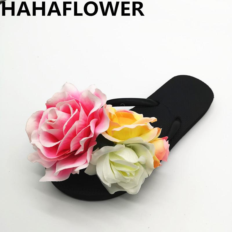 dfd891a71e35 Wholesale Popular Women S Casual Slippers Flower Female Soft Comfortable Flip  Flops Flat Slippers Ladies  Fresh Beach Shoes Desert Boots Mens Slippers  From ...