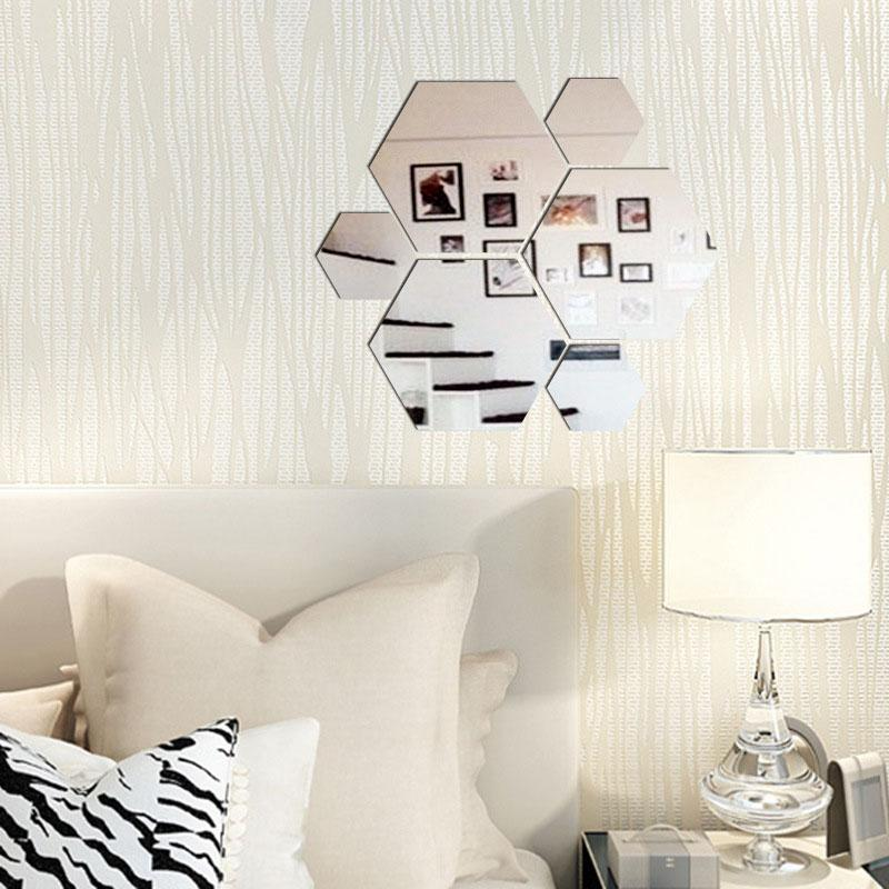 Grosshandel Sexangle Dreidimensionale Spiegel Schlafzimmer Zubehor