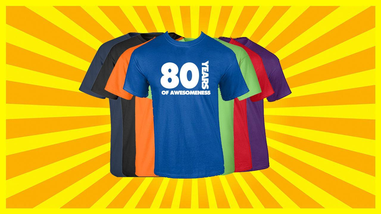 80th Birthday T Shirt Happy Funny 80 Years Old Tee Different Shirts Day From Down2lift 1101