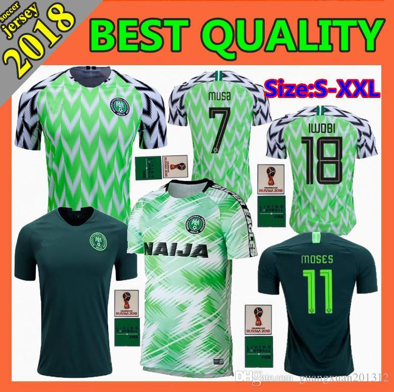 a56a3af614d 2018 New World Cup Soccer Jersey 18 19 Home Away Alex IWOBI STARBOY ...