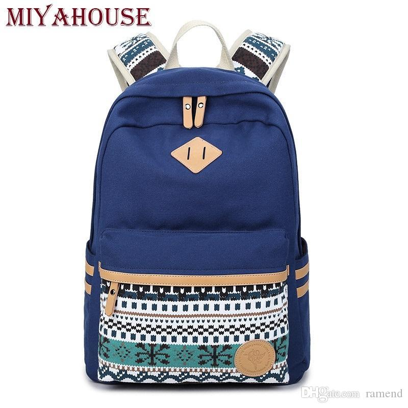 d92d3e2b86 Wholesale Miyahouse Ethnic Women Backpacks For Teenage Girls Vintage Stylish  School Bag Lady Canvas Backpack Female Back Pack High Quality Rucksack  Backpack ...