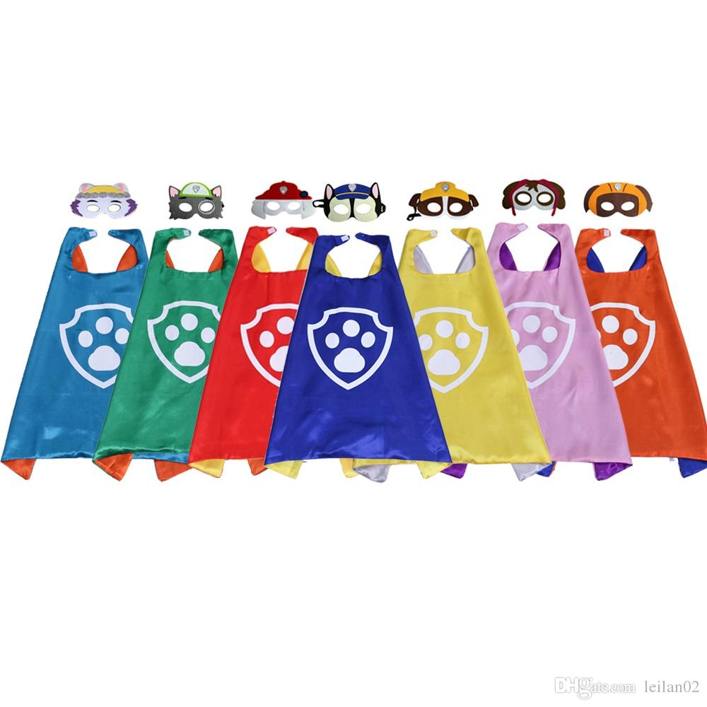 57c97f5241cb4 27 inch Cute vibrant kids cape with mask made in China kids costumes party  favor party supplies festival gifts