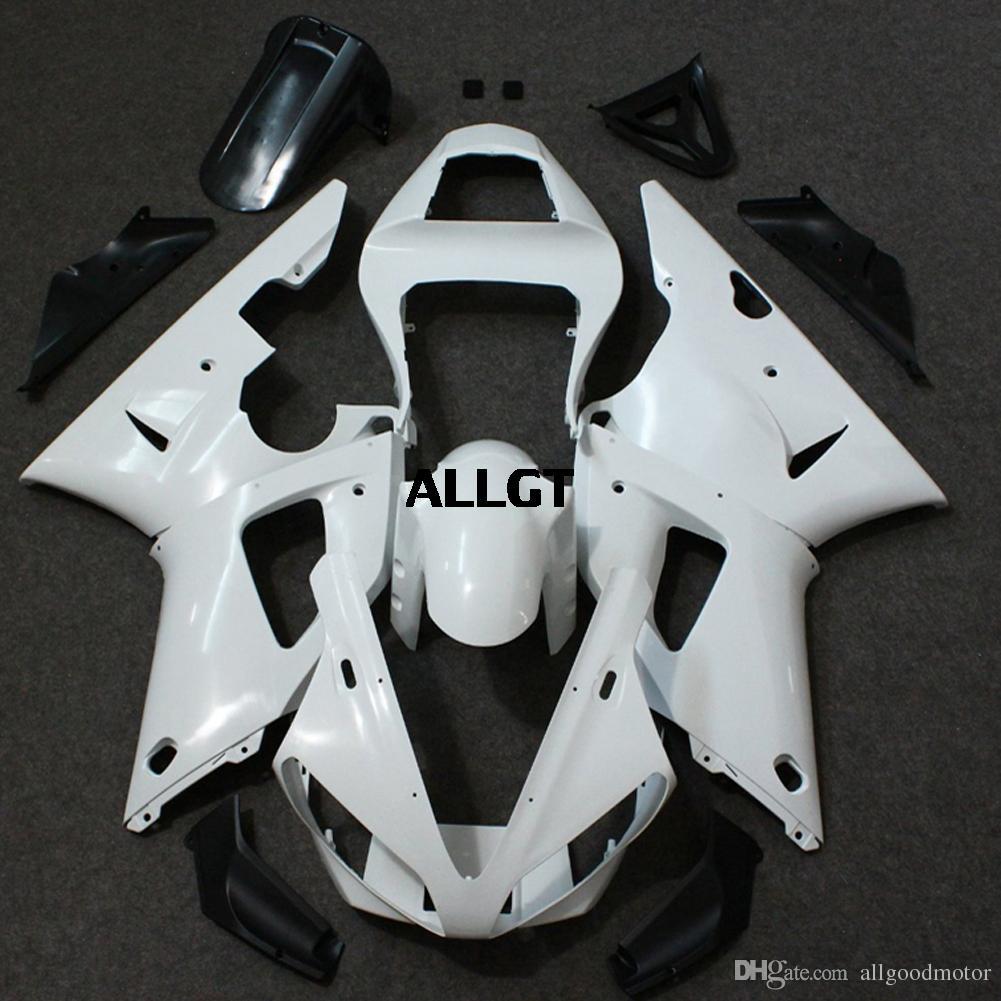 Kit de carenado completo de motocicletas ALLGT para Yamaha YZF R1 2000 2001 Caperuzas de moldeo por inyección sin pintar