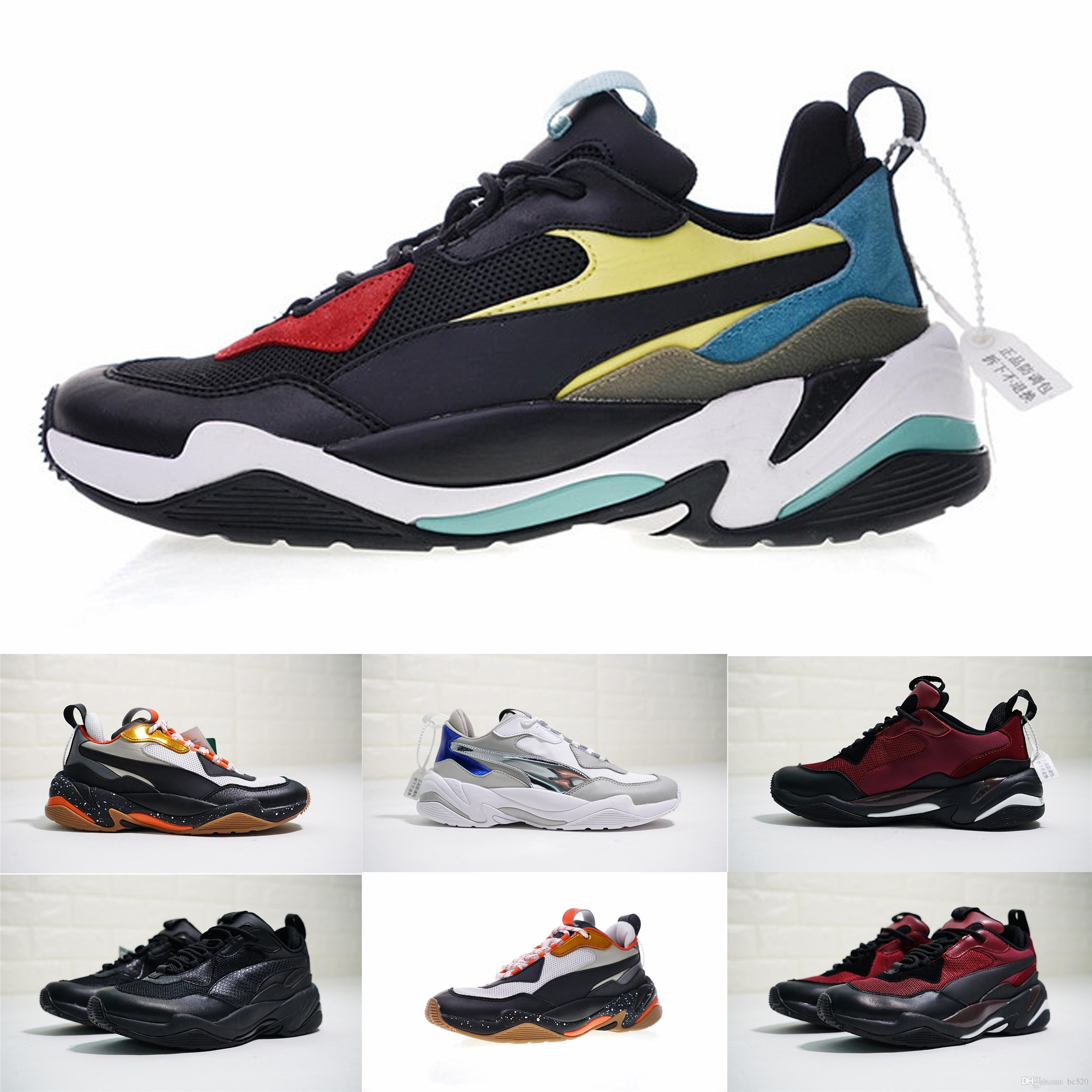 42abc1516a629d 2018 Newest Pum Thunder Spectra Doing Old Genuine Leather Casual Old Dad  Shoes Thunder Spectra Breathable Enuine Leather Running Sneakers Jordans  Running ...