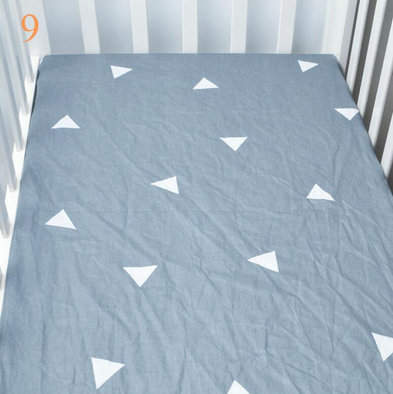 Customized design cheap organic cotton crib sheet newborn fitted sheet for infant full size baby bed sheet