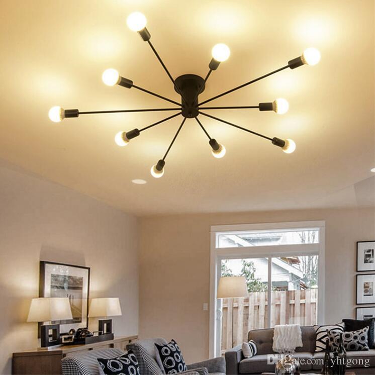 Nordic Deckenleuchten Schwarz LED Deckenleuchten Für Küche Wohnzimmer  Esszimmer Hause beleuchtung abajur 10 Leuchten glanz