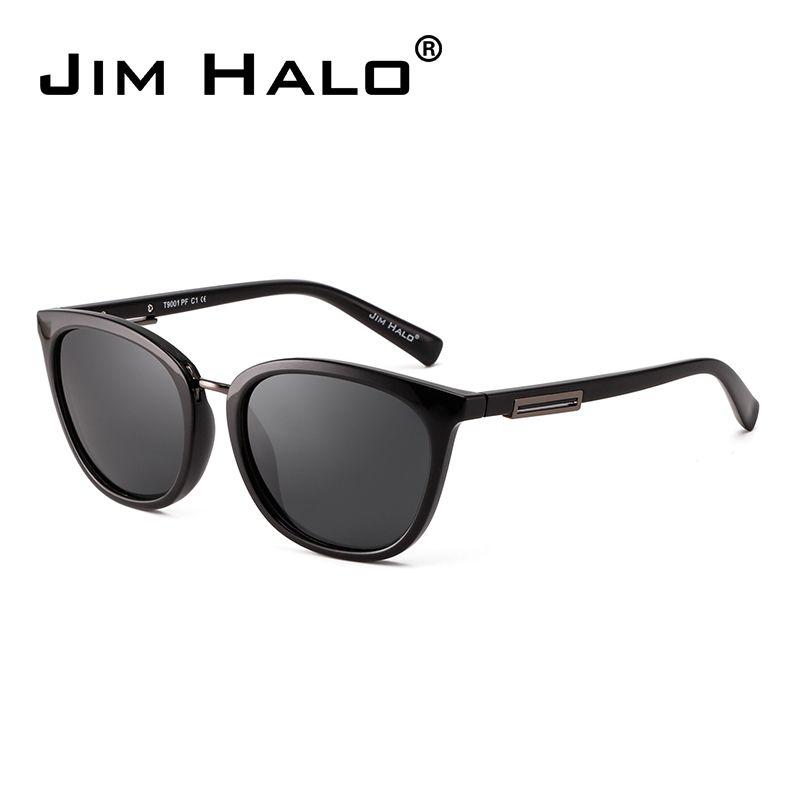 d668fd90a Jim Halo Polarized Gradient Classic Sunglasses Retro Cat Eye Square ...