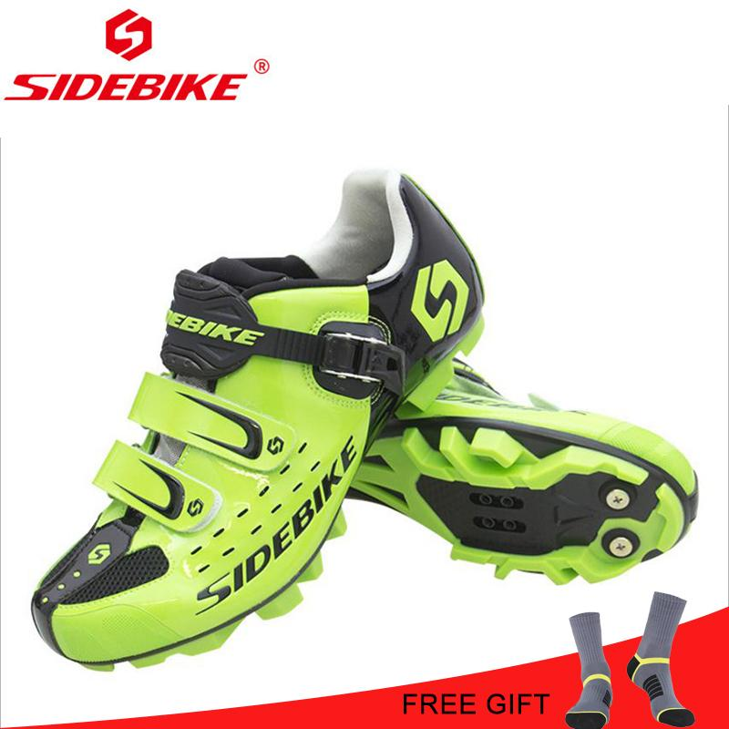 8b2192362fa7d Tacchi Alti SIDEBIKE MTB Mountain Shoes Ciclismo Scarpe Uomo Traspirante  MTB Mountain Bike Equitazione Self Locking Bicicletta Sport Calzature In  Goretex Da ...