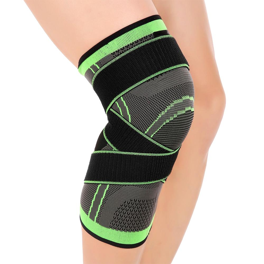 31b02576a0 2019 2018 Fitness Running Cycling Knee Brace 2018 Professional Elbow Support  Knee Support Protective Sports Knee Pad Breathable Bandage From Panthers,  ...