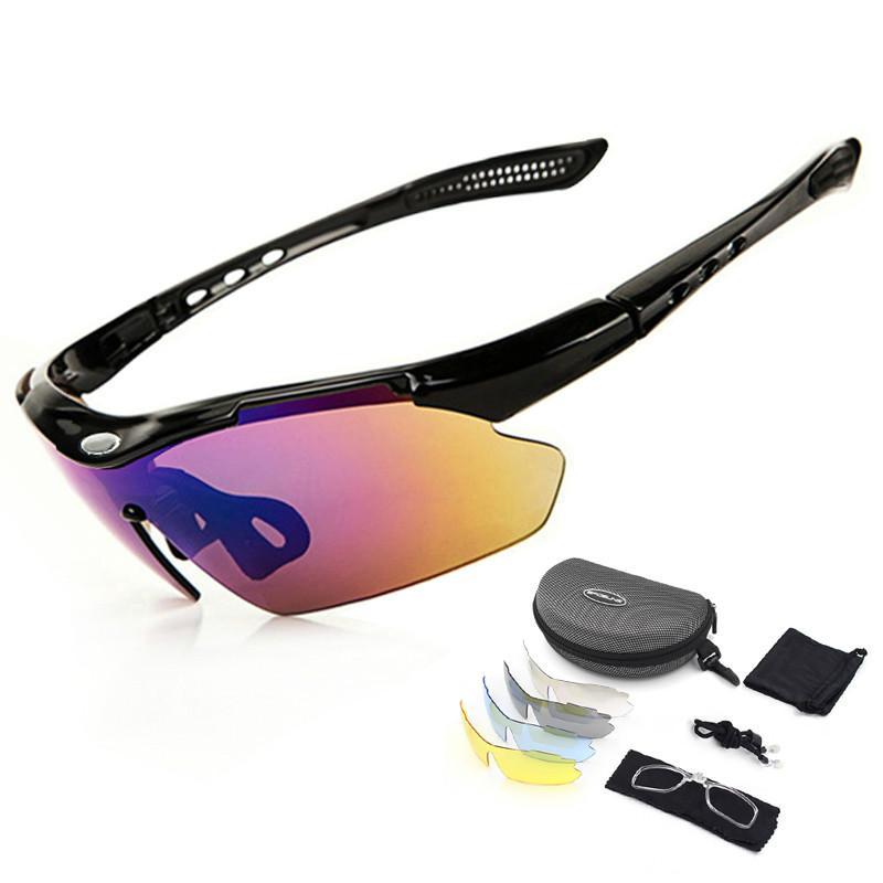 444cd60b7d Gafas De Sol Polarizadas Para Deportes Al Aire Libre 5 Lentes  Intercambiables 100% Gafas UV Gafas De Bicicleta Para Hombres Y Mujeres Por  Gzaiwin, ...