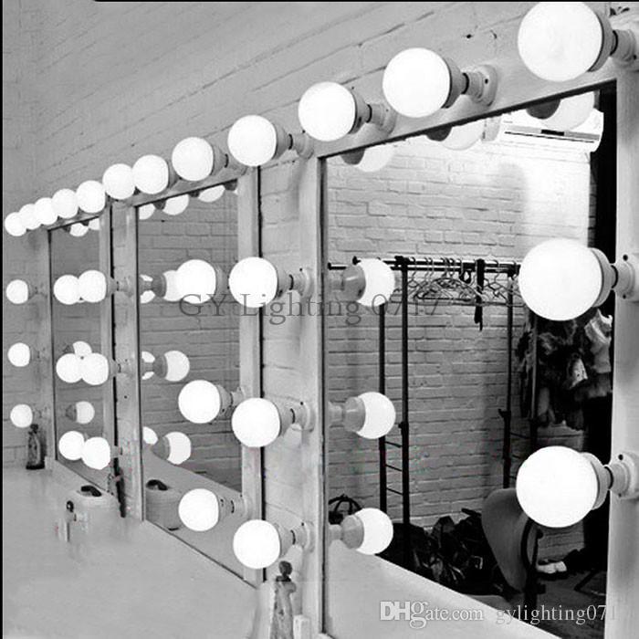 6/10/15 / vestidor espejo sala de la pared la luz de la lámpara espejo cosmético bombillas modernos E27 E26 LED que componen la iluminación de lámparas de pared maquillaje