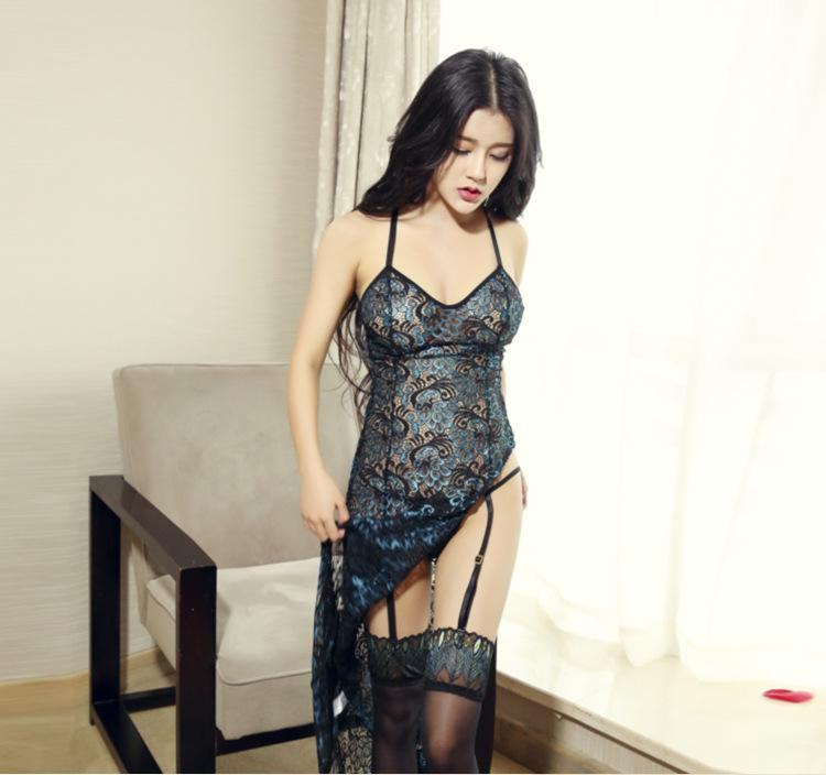 2018 Hot Sexy Lingerie Women Set Lace Peacock Embroidery Cheongsam Sex  Pajamas Suits Female Underwear Sleepwear Sexy Costumes Y1892810 Best  Sleepwear Boys ... 81ee9d03e