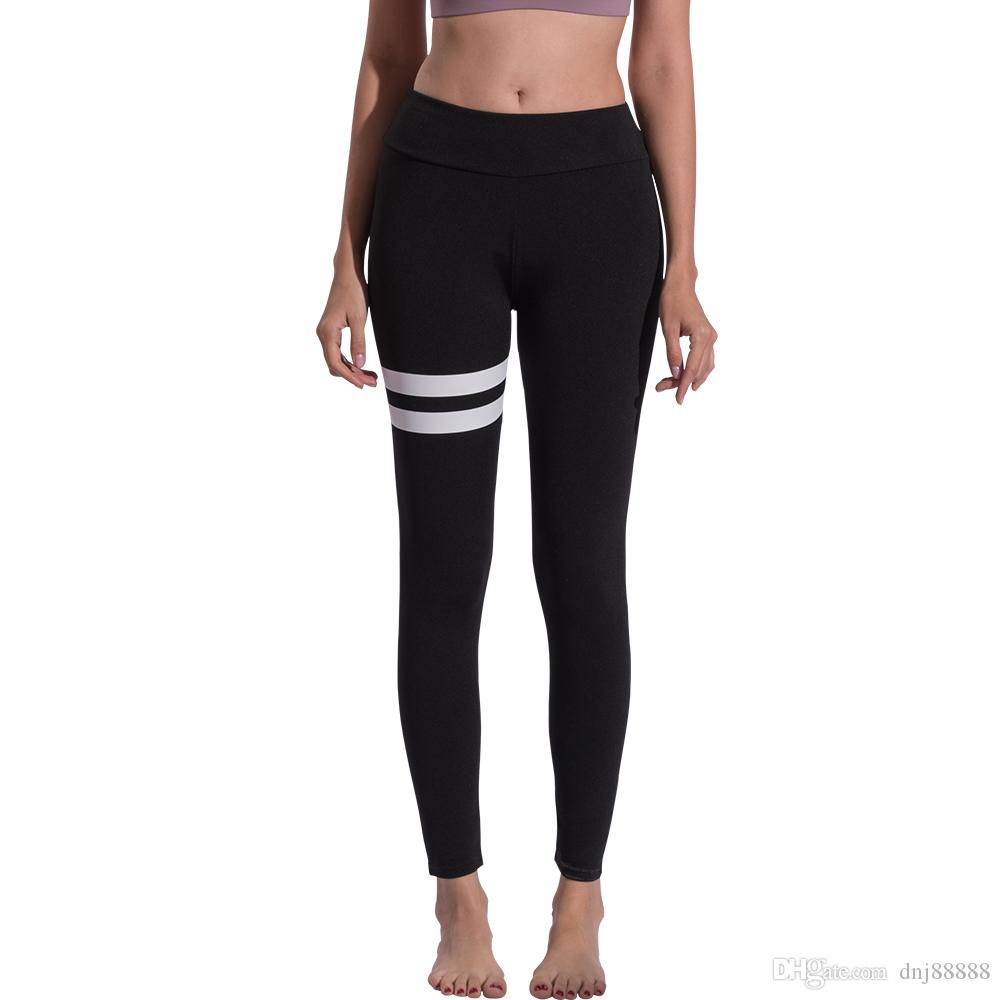 fb227b7440e49d Fitness Yoga Sports Leggings For Women Sports Black Simple Casual Slim  Tight Yoga Leggings Yoga Pants Women Running Pants Tights for Women C  Leggings Para ...