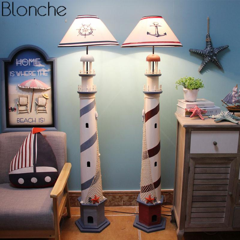 Grosshandel Mittelmeer Leuchtturm Stehlampe Retro Ozean Stehlampe