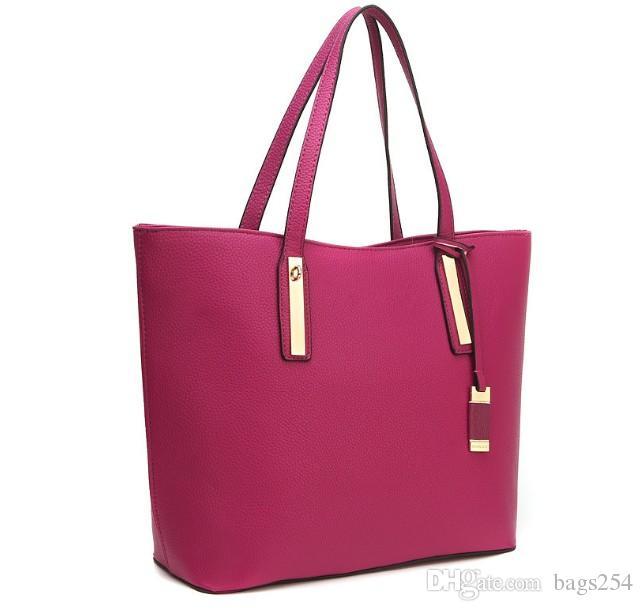 New Top quality fashion famous brand women casual tote bag PU handbags Shoulder Tote Bags purse 8870