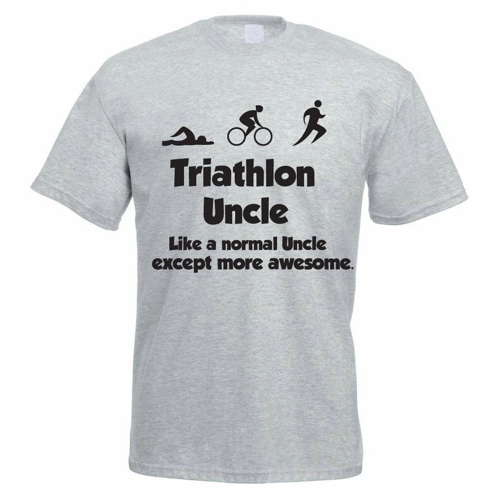 4316aeaa Triathlete T-Shirt - TRIATHLON UNCLE - Swim / Bike / Run / Tri Funny Men's  Tee
