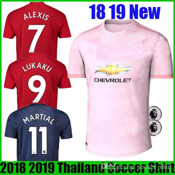 985abca1b ... ireland 18 19 alexis sanchez pogba man soccer jersey 2018 2019 lukaku  lingard rashford home soccer