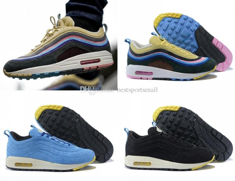 05bceaf3166 2018 Sean Wotherspoon x 97 1 VF SW Hybrid Men Women Running Shoes Authentic  97s Ultra Multicolor Mens Trainers Sports Sneakers Size 36-46