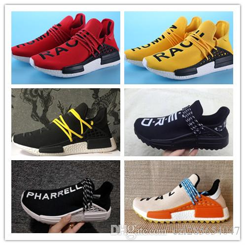 various colors 64af5 3f7ac Compre La Raza Humana Pharrell Williams 2018 La Raza Humana Hu Trail  Zapatos Corrientes Cream Core Black Nerd Igualdad Holi Nobel Ink Trainers  Sport Sneaker ...