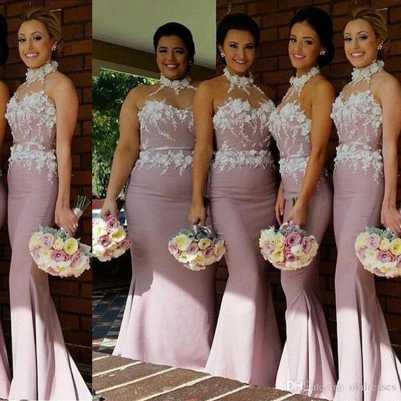 9430378609c Rose Gold Dress A Line Long Bridesmaid Dresses Country Bridesmaid Dresses  Plus Size Bridesmaid Dresses Mermaid Prom CK072 Bridesmaid Dresses For  Beach ...