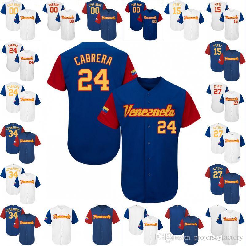 the latest 4775b 2a5d7 World Altuve 24 Cabrera 27 15 Perez Baseball Jerseys Felix ...